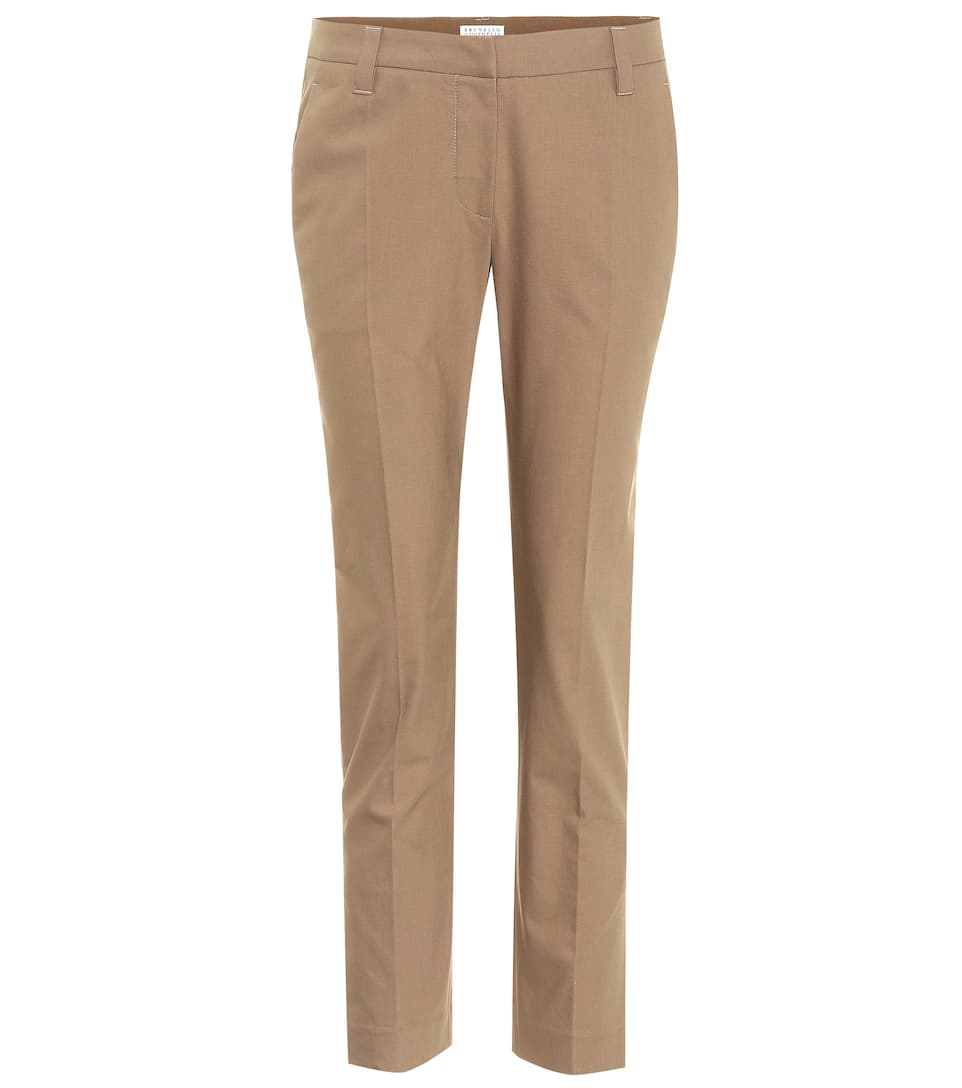 Brunello Cucinelli Pants Made Of Stretch Cotton