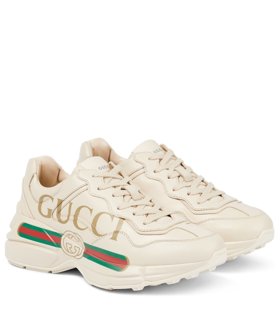 26c4ebc1619 Gucci - Rhyton leather sneakers
