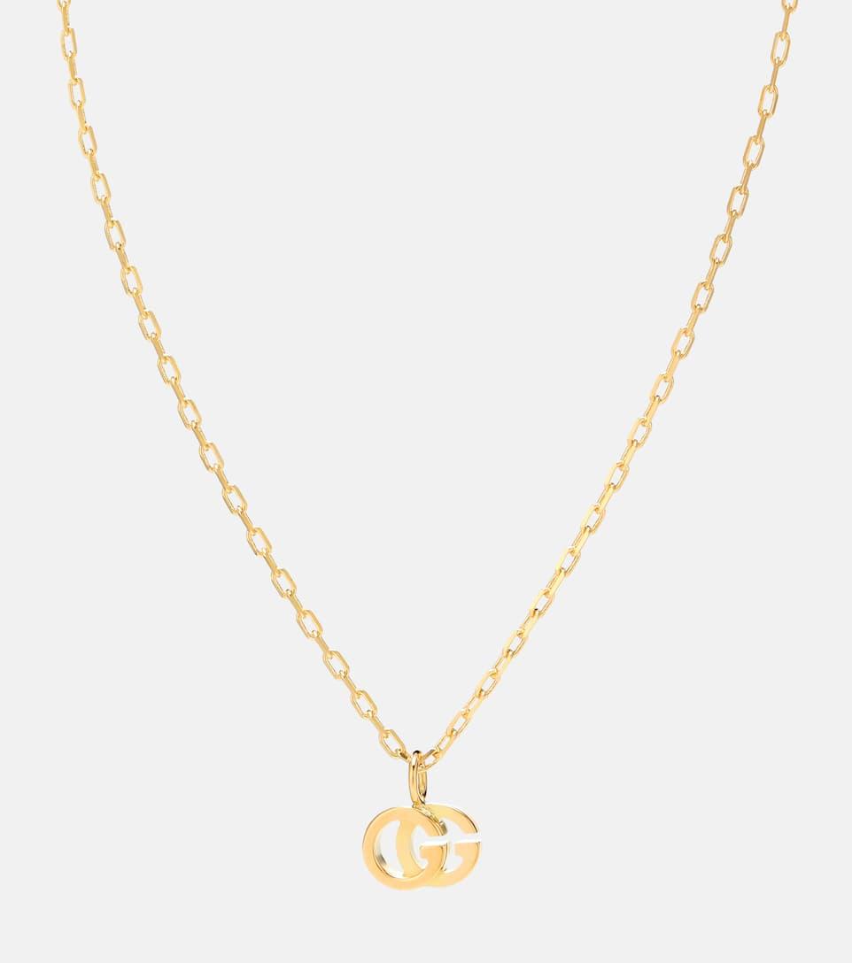 in vendita b9054 56e17 Collana GG Running in oro giallo 18kt con topazio