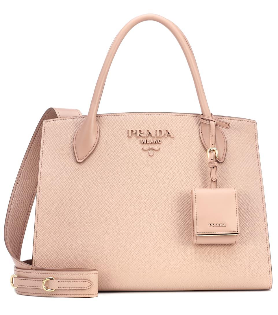e12e4c1918fdb9 Monochrome Leather Shoulder Bag - Prada | mytheresa.com