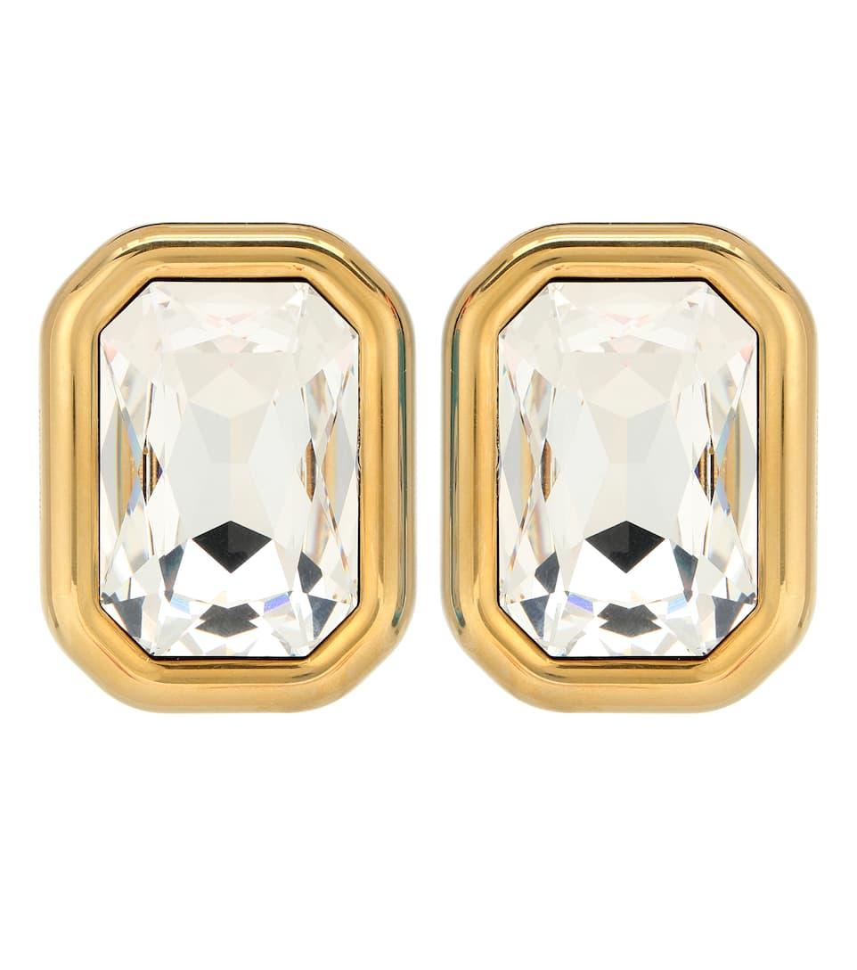 Dallas Xl Crystal Clip On Earrings by Balenciaga
