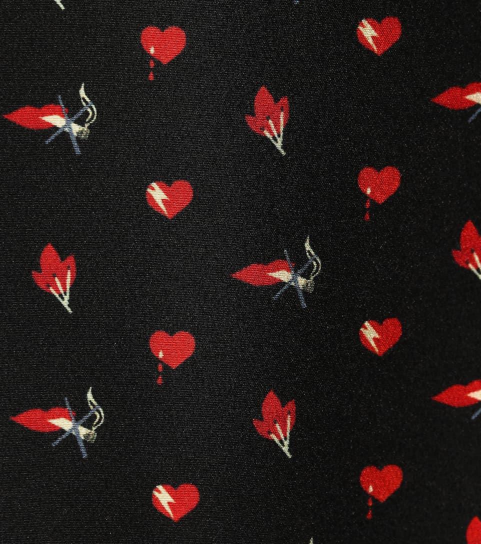 Saint Laurent Printed Mini Dress