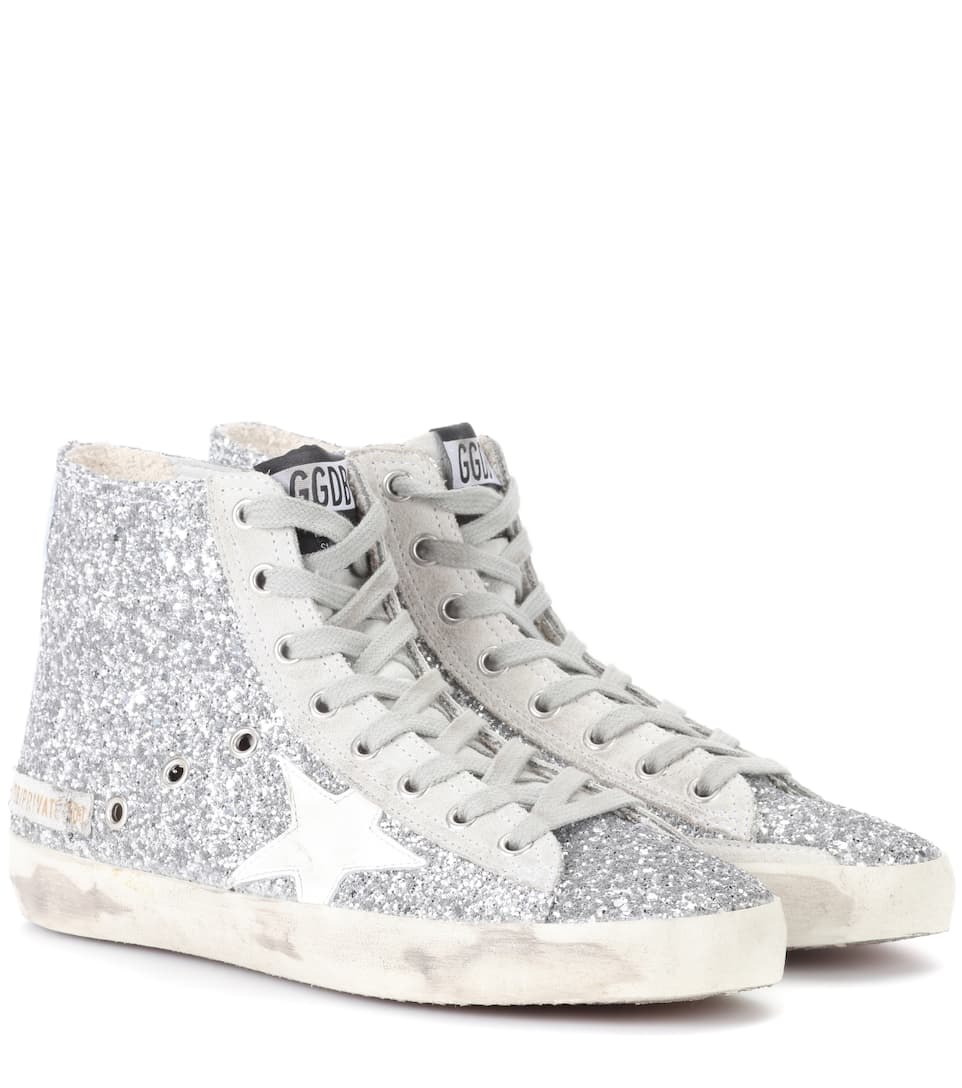 Golden Goose Deluxe Brand Exklusiv bei mytheresa.com – Sneakers Francy mit Glitter