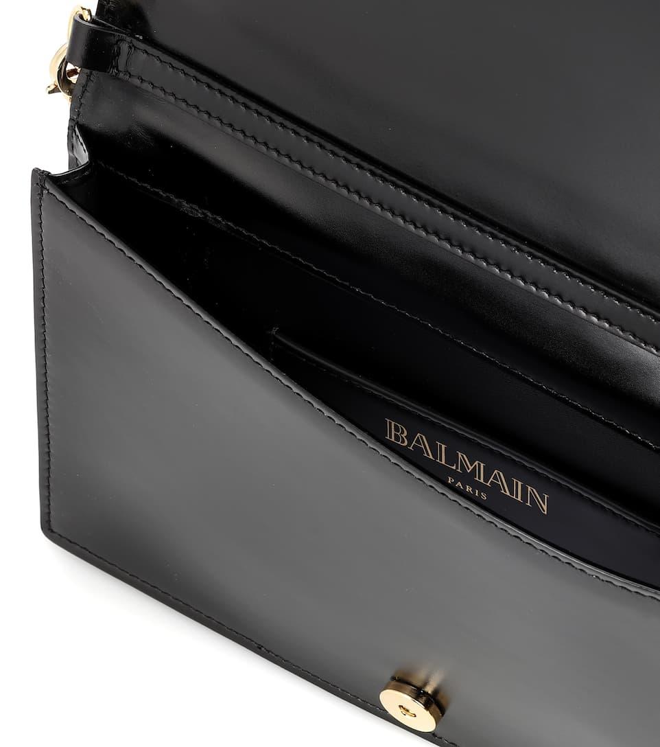 Balmain L'Enveloppe leather shoulder bag Black Buy Cheap Big Discount From UK bNwPIf6