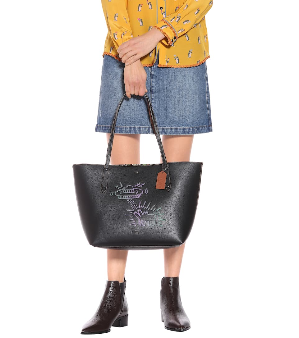 Coach X Keith Haring Of Leather Shopper