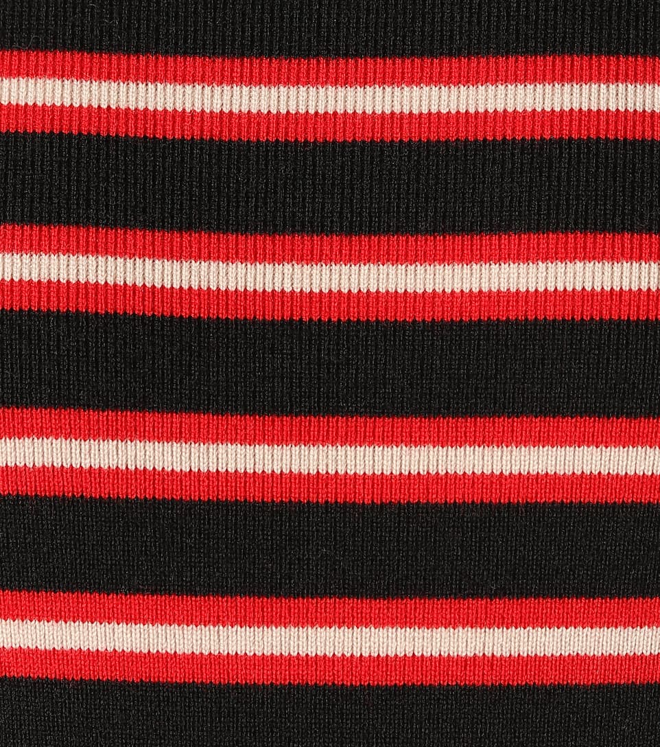 Moncler Grenoble - Striped Wool-blend Sweater Big Discount