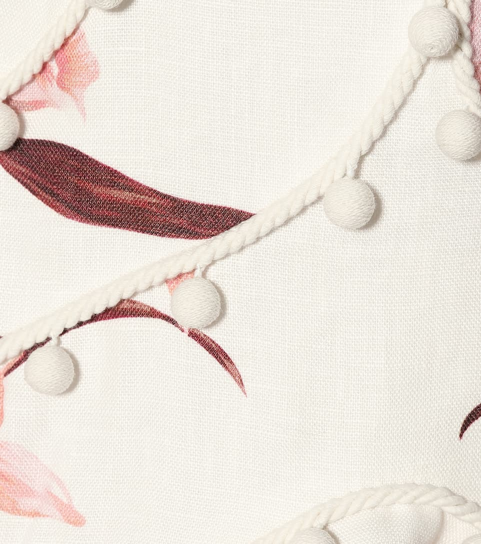 Zimmermann In Lino A Abito Bauble Corsage Stampa QdsrCth