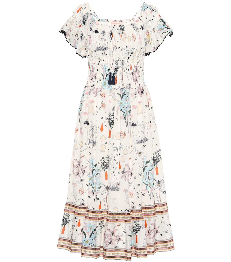 c6ccb39cc0 Tory Burch - Meadow Folly cotton midi dress | Mytheresa