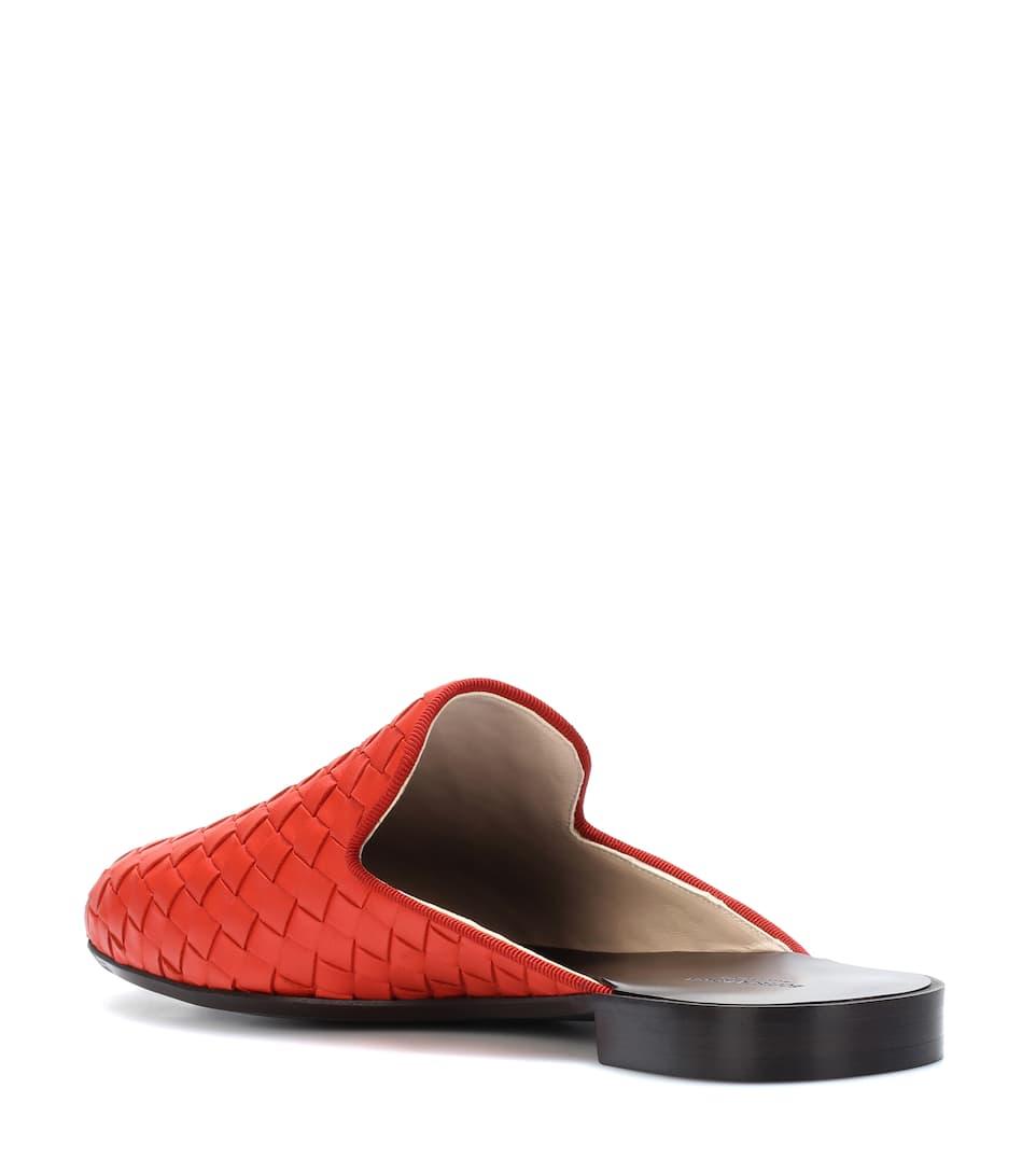 cuero Bottega Intrecciato Zapatillas de Dark Terracotta Veneta Wqq0pRP4n
