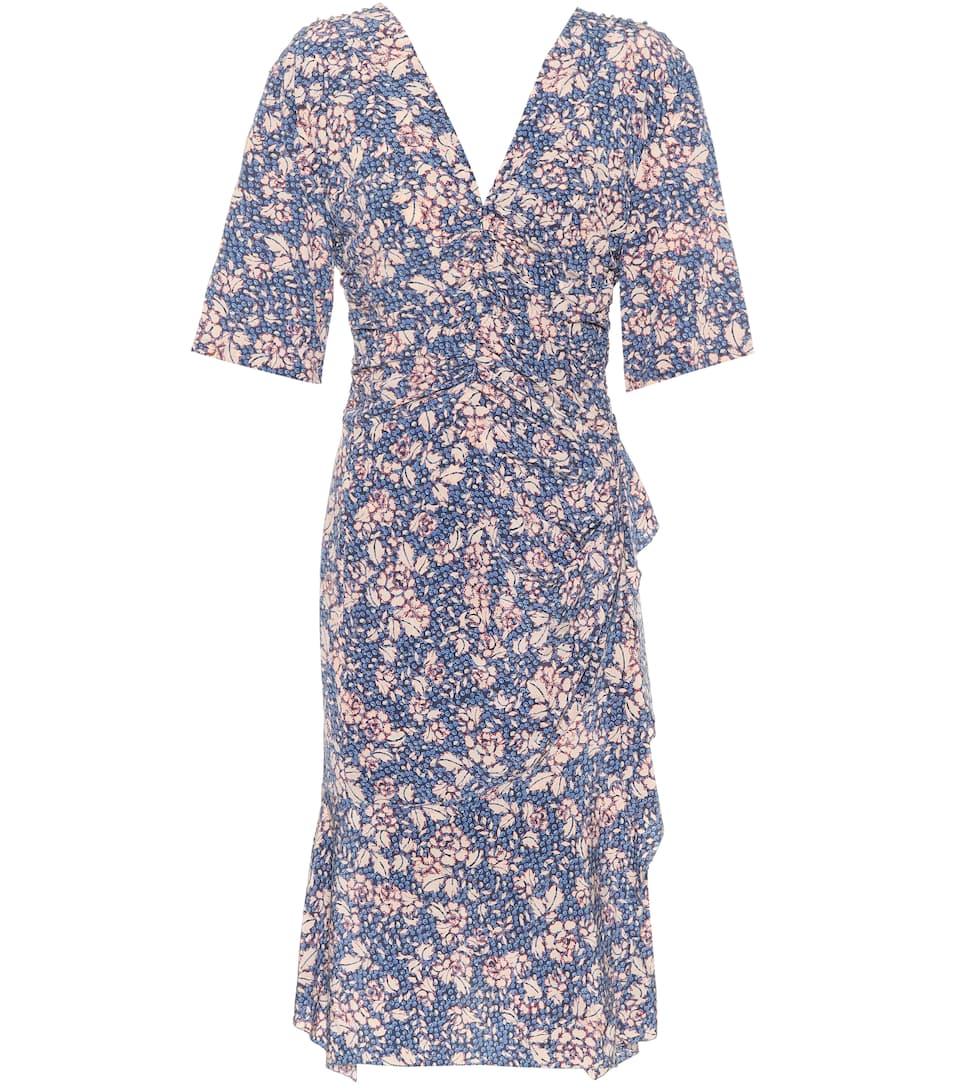 Isabel Marant Kleid aus Stretch-Seide mit Rüschen