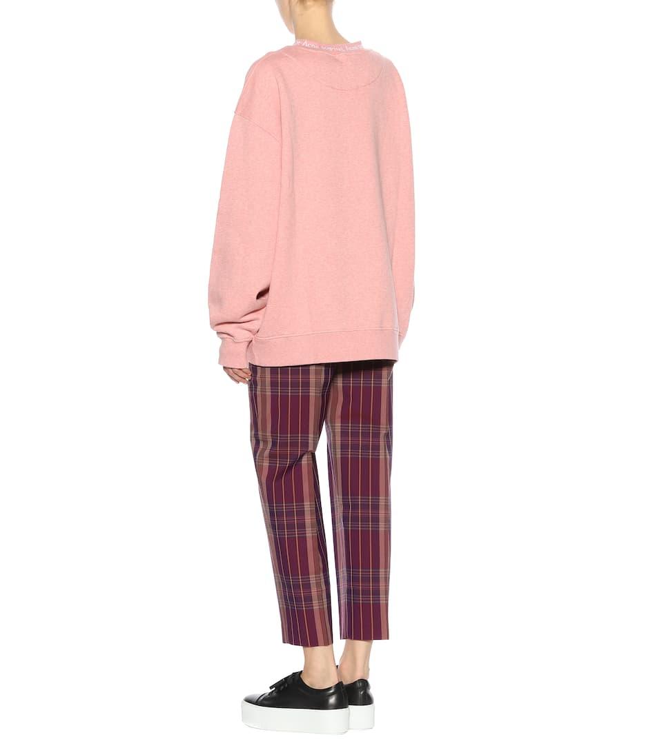Pink Sudadera algodón Melange Acne Studios Yana TOIZnOrg