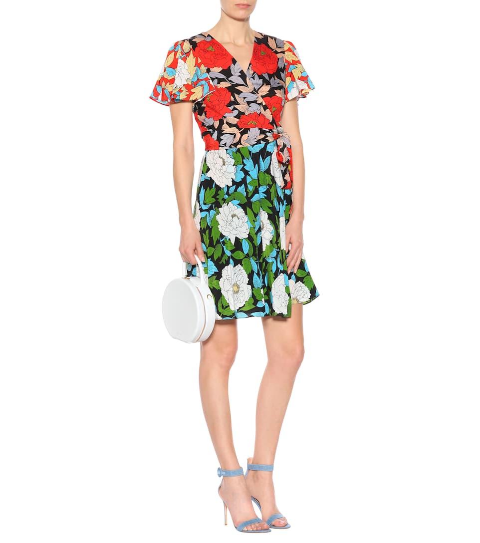 floral Furstenberg con seda von Ivory de Vestido cruzado Diane estampado Boswell 5qw8gYxn