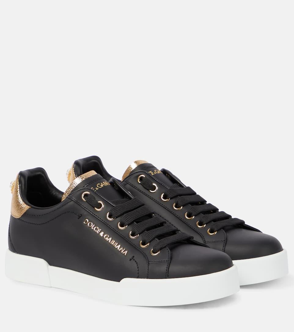 Portofino Leather Sneakers - Dolce