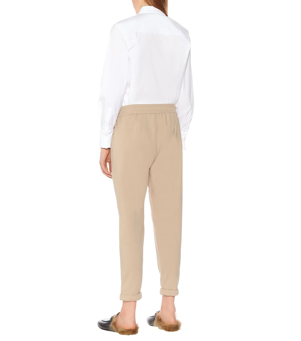 Brunello Pantaloni Stretch Cucinelli In Cotone nwN8m0Ovy