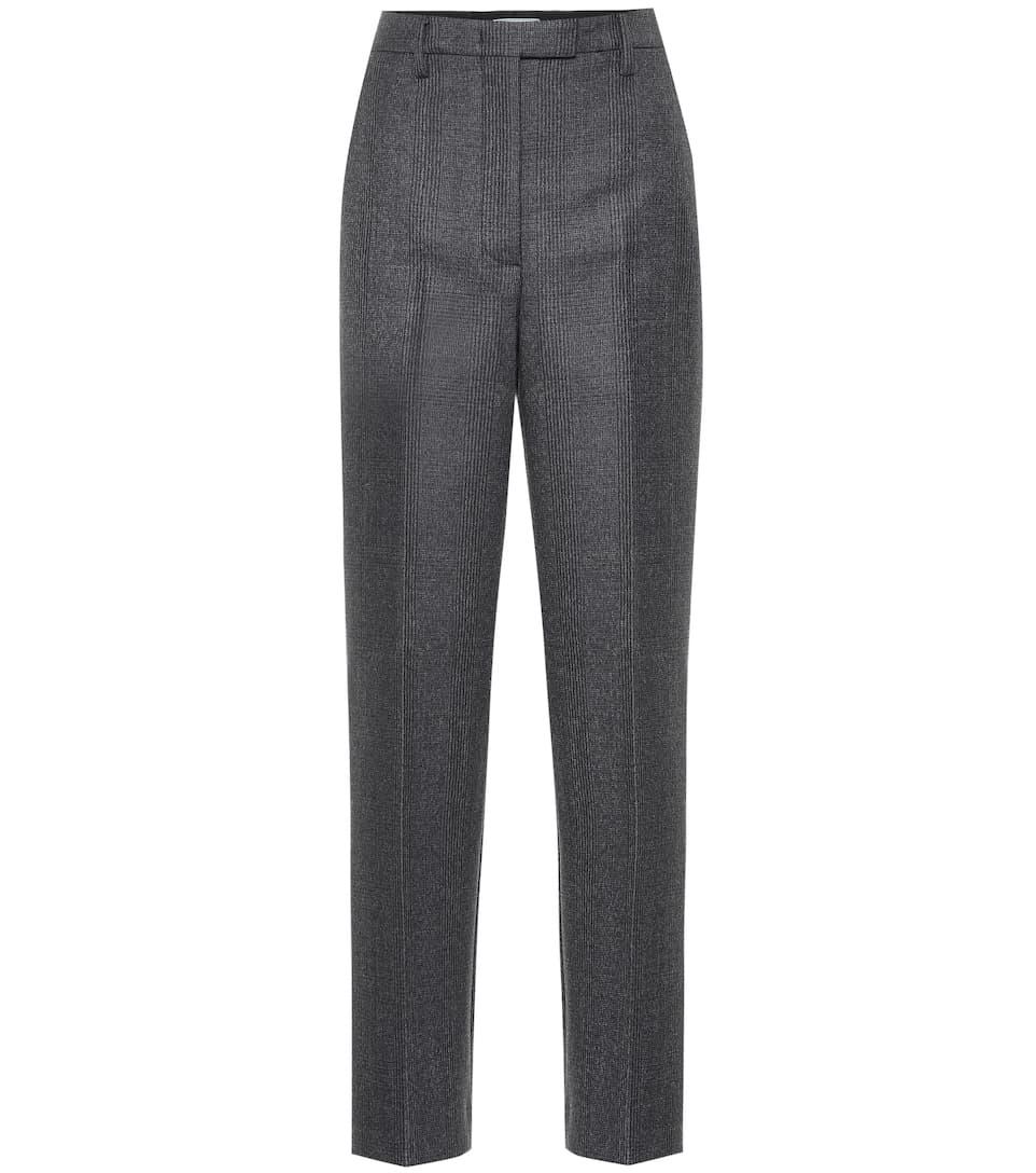 6b62bf2647 High-rise wool-blend straight pants