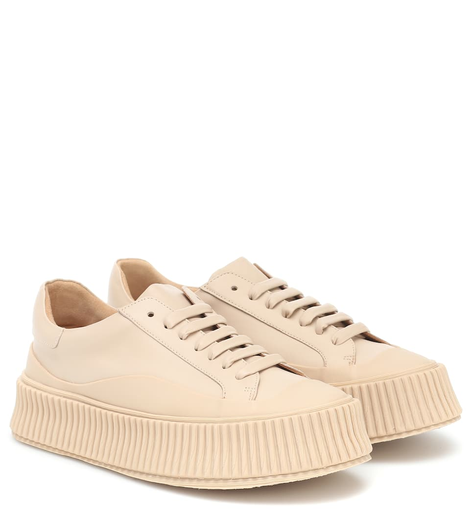 Leather Platform Sneakers - Jil Sander