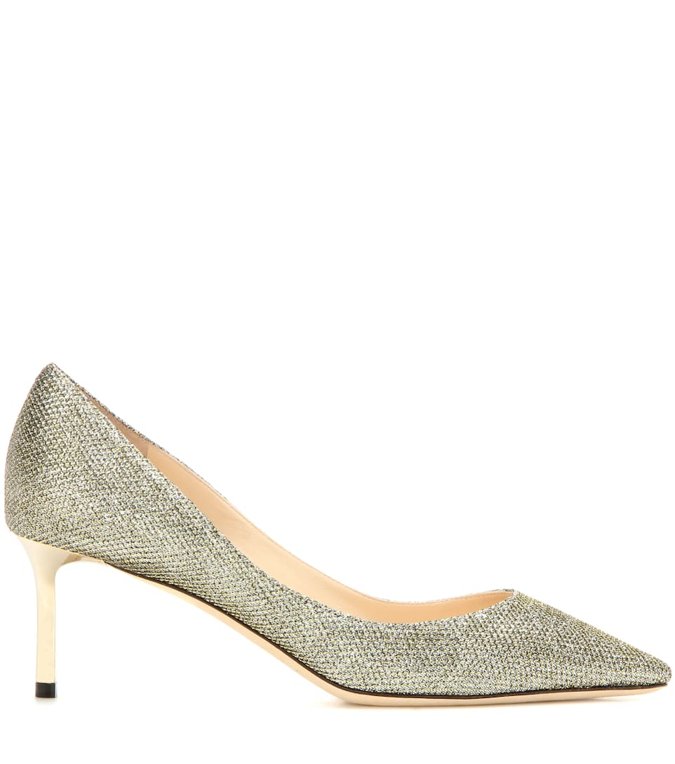 Jimmy Choo Pumps Romy 60 aus Lamé