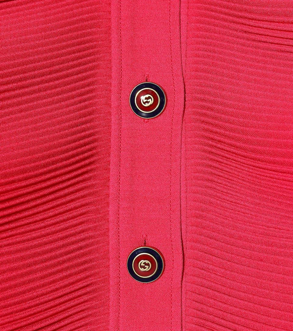 61IwJXQ95o - Robe en crêpe de soie et laine mélangées