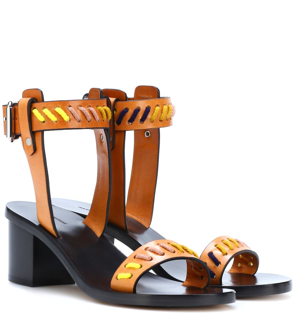 JECKY LEATHER SANDALS