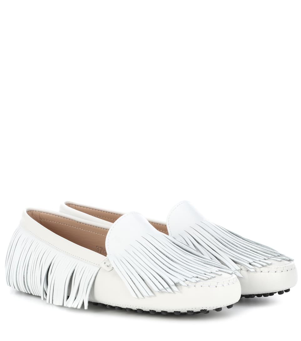 GOMMINO FRINGED LEATHER LOAFERS