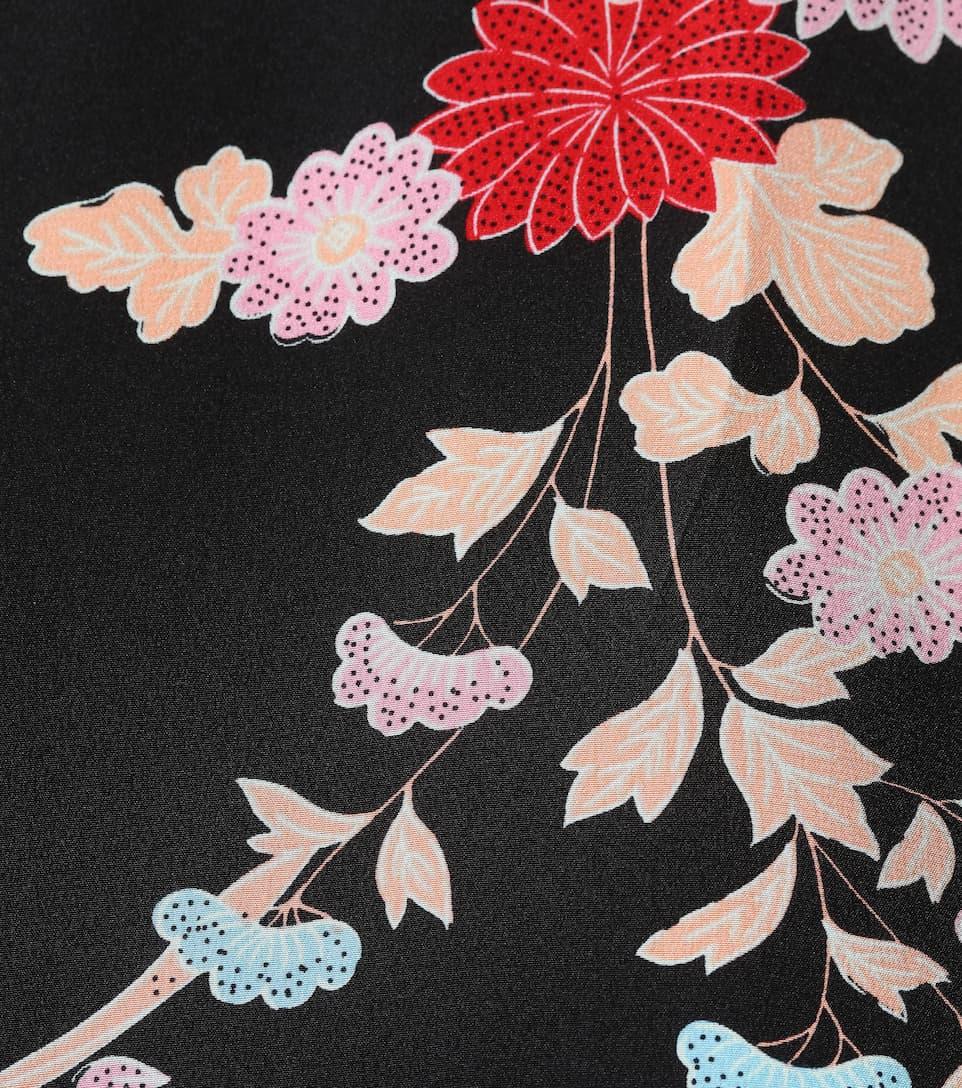 von estampado Walden Furstenberg con de Diane Black seda floral Top vxdqwgAY