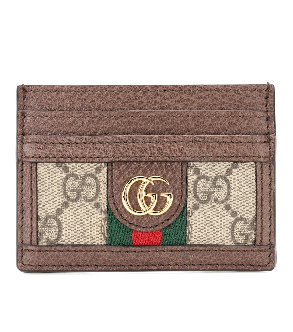 3186fe82d66 Logo Leather Card Holder - Gucci