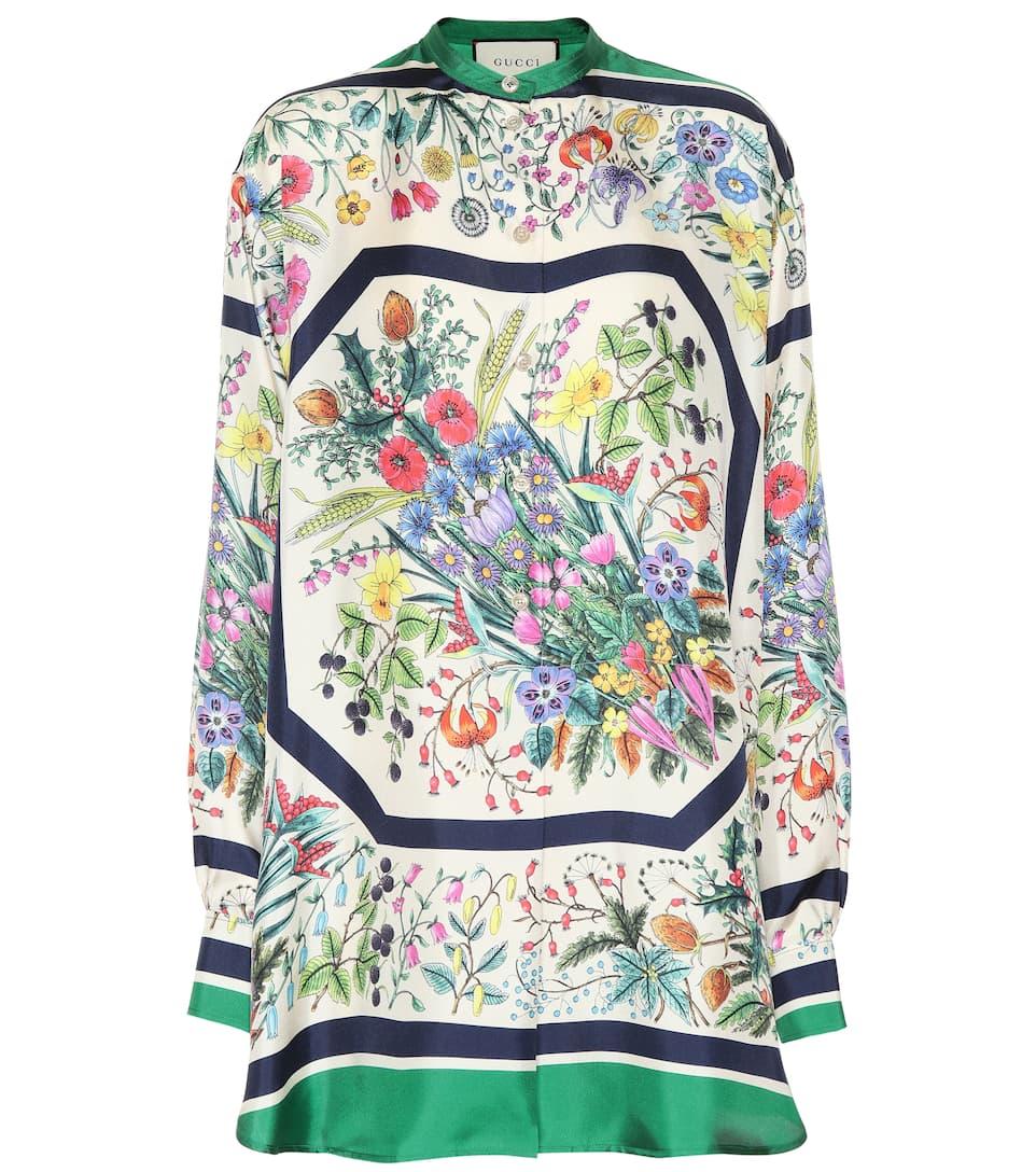 Gucci - Camisa de seda floral  0956479d700
