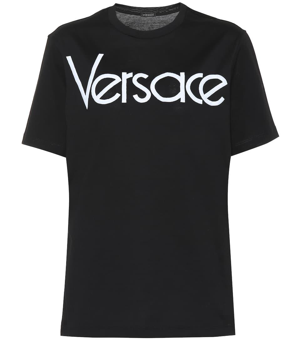 3ce539b36 Logo Cotton T-Shirt - Versace | mytheresa.com