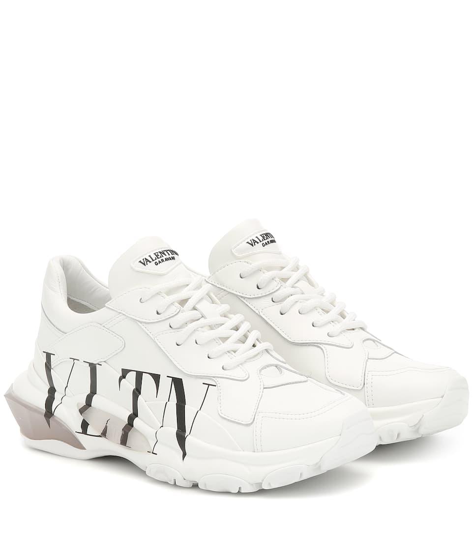Valentino Garavani Bounce Leather Sneakers by Valentino