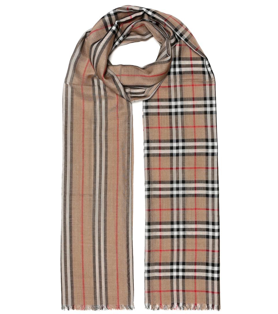 selezione migliore c58ee af8e8 Sciarpa a quadri in lana e seta