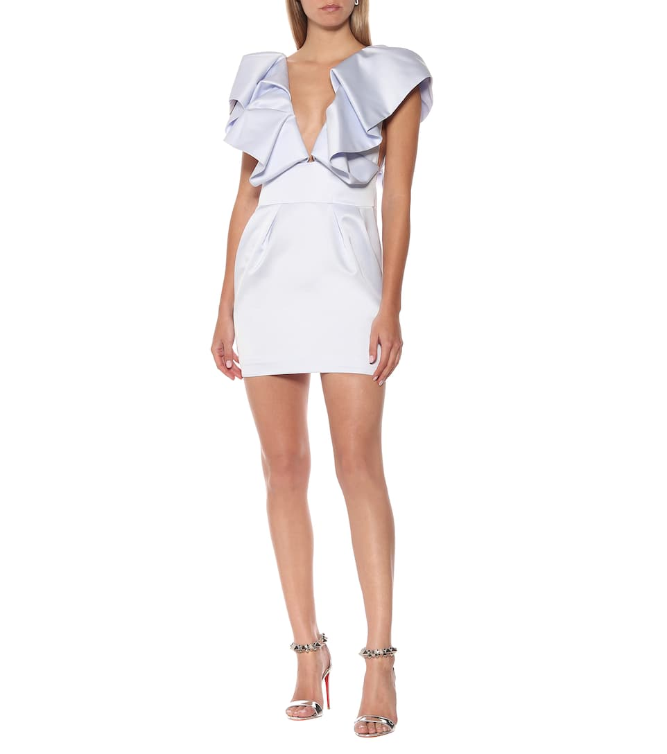 Alexandre Vauthier - Ruffled satin minidress
