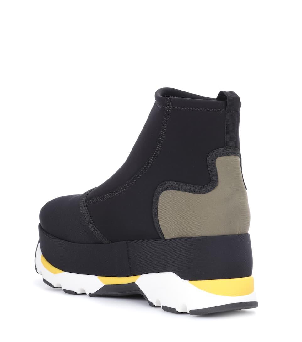 Marni Platform sneakers Black/Grass Free Shipping Good Selling 21AKmcW