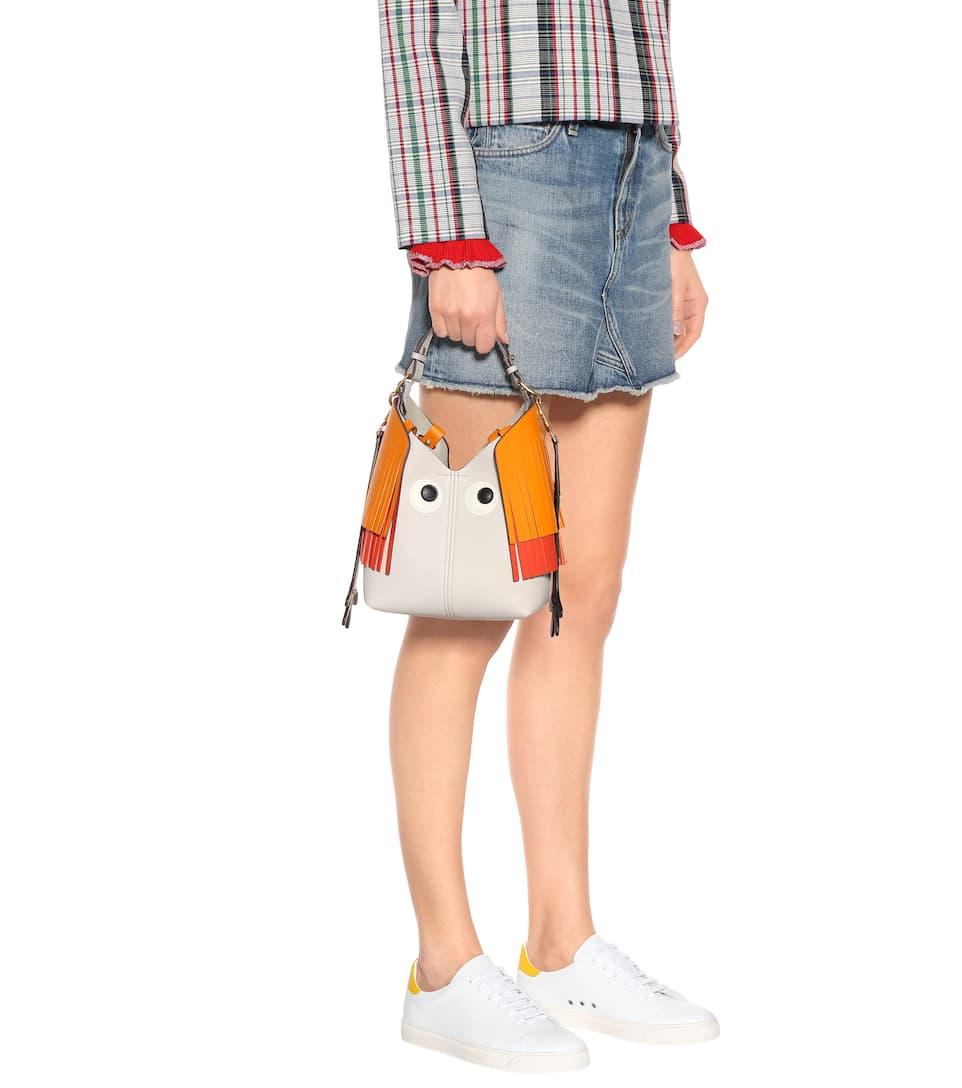 Schultertasche Hindmarch Anya Anya Schultertasche Leder aus Creature Mini Hindmarch OwqdSnEtx