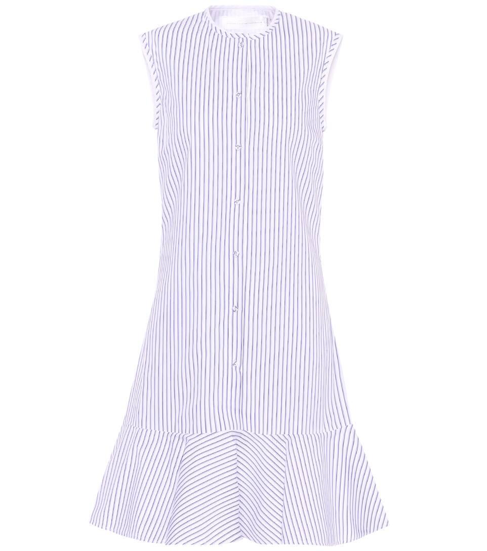 Victoria Victoria Beckham Gestreiftes Kleid aus Baumwolle