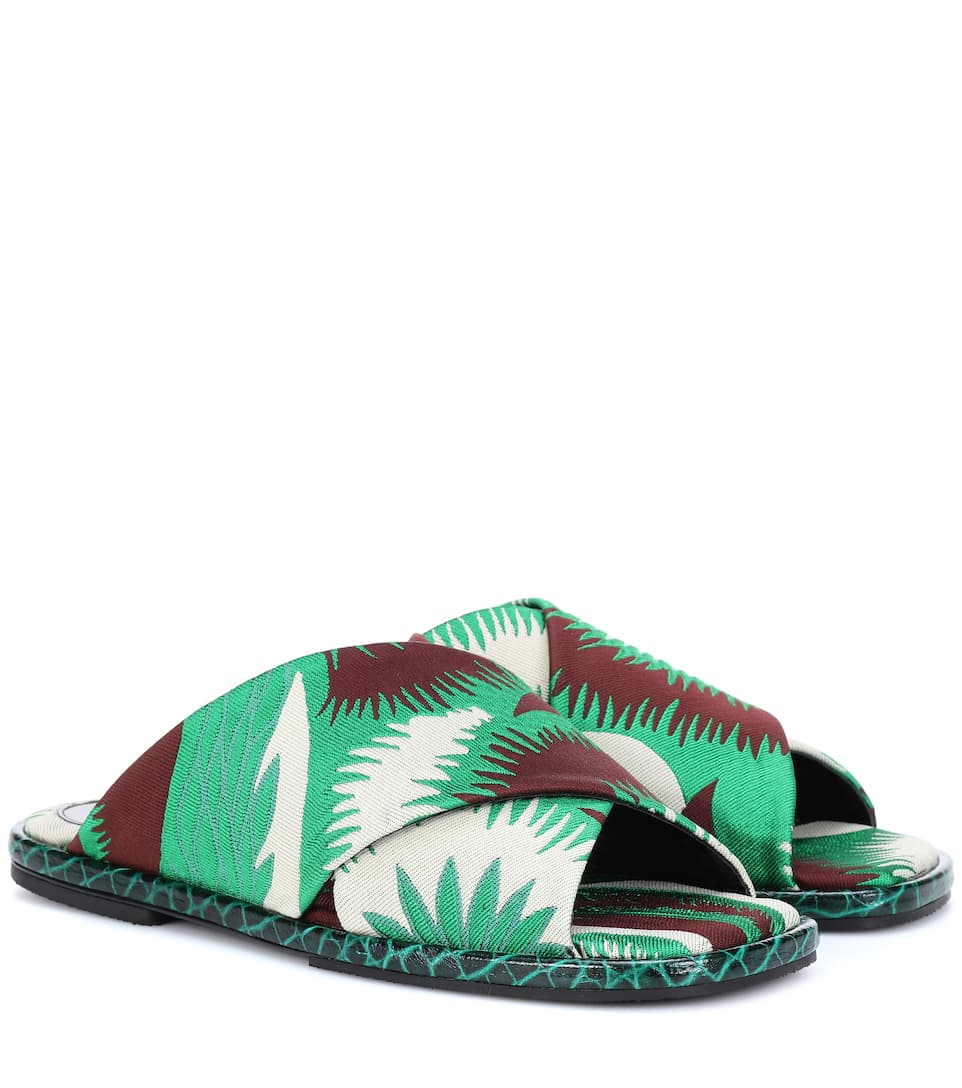 9c756ba22fbd Dries Van Noten - Jacquard slide sandals