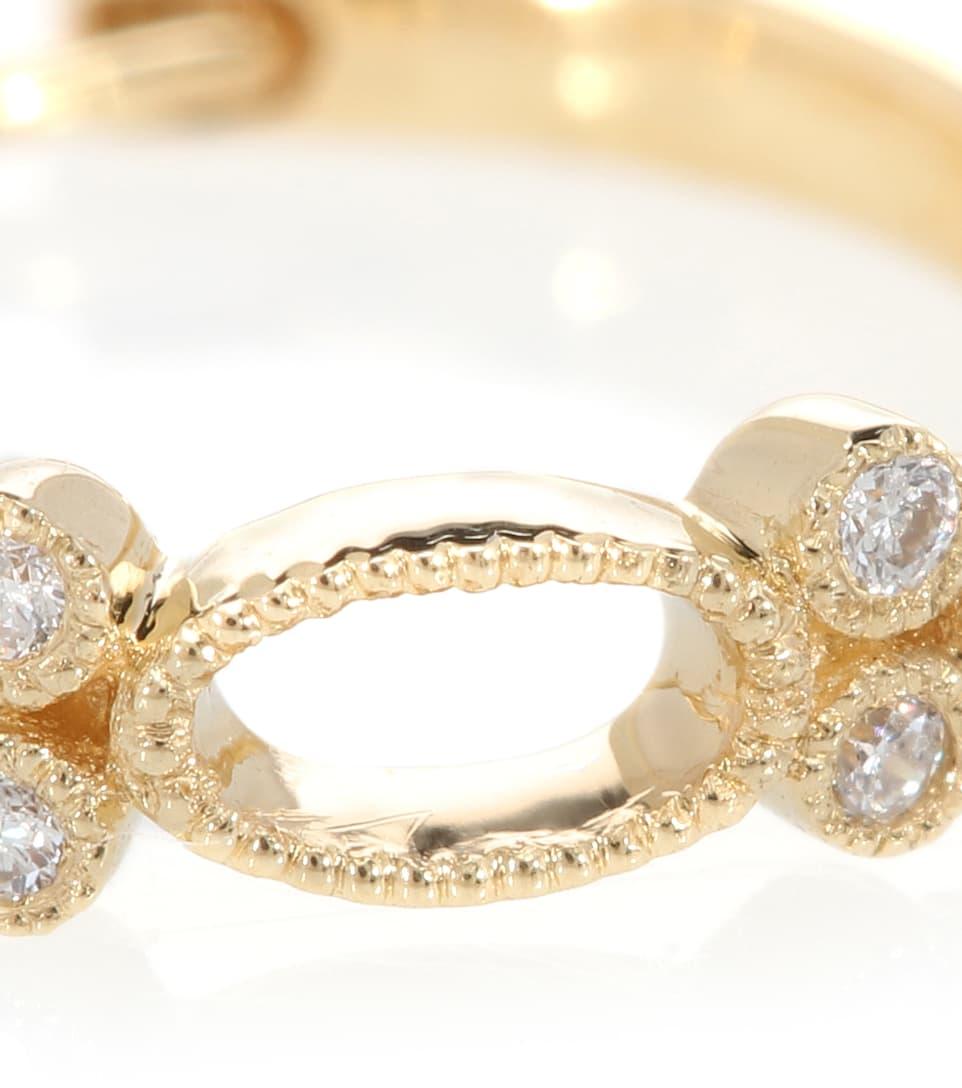 Et D'oreille Jaune Boucle Diamants Or Paris Volupte Hoop En Ct 18 Stone Tiny Unique N0vm8wn