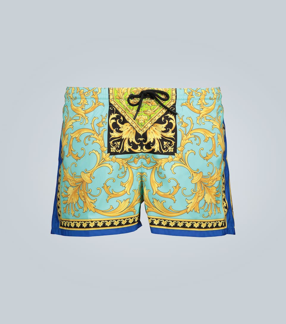 Versace Linings BAROQUE PRINTED SWIM SHORTS