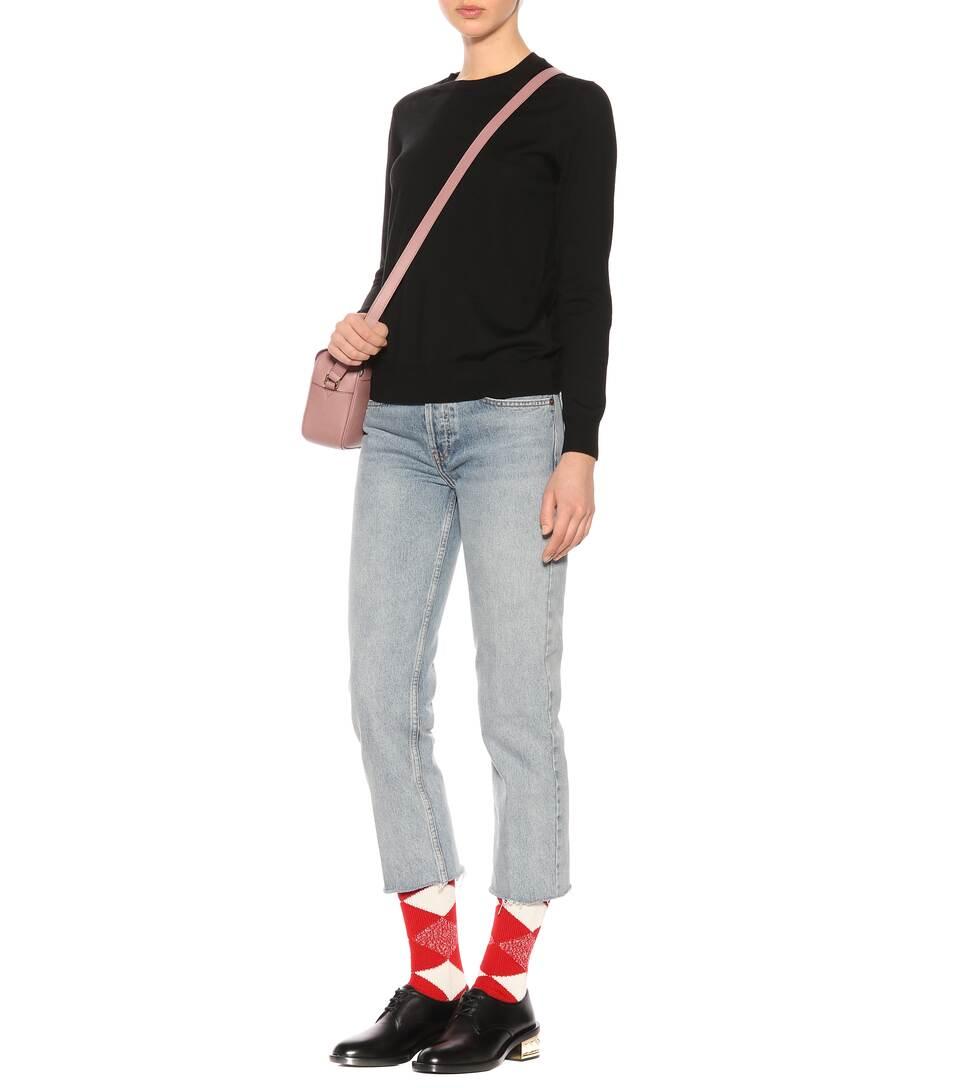 Burberry lana redondo de cuello Negro Merino suéter de nrwHCrqY