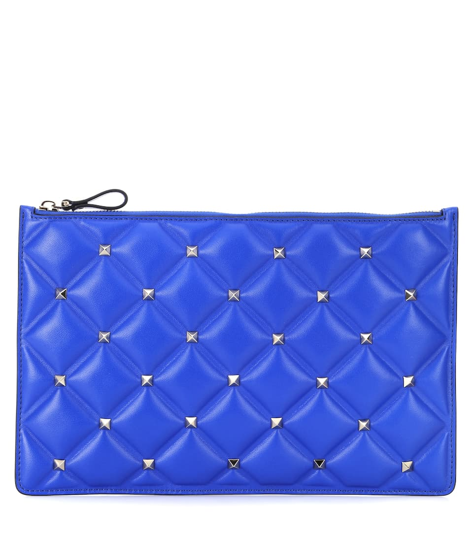 Valentino Garavani Candystud Leather Clutch by Valentino Garavani