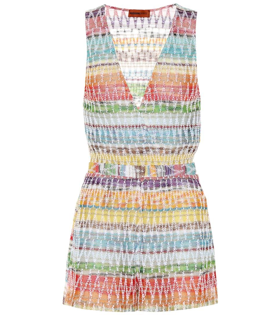 dd0f209c68748c Missoni Mare - Crochet-knit playsuit | Mytheresa