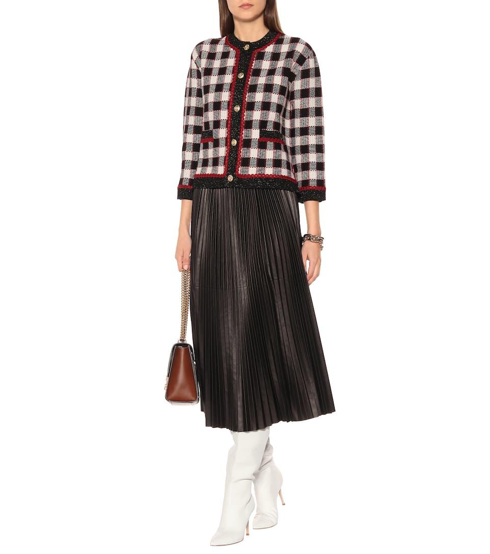 7b4481ead Checked wool cardigan. NEW ARRIVAL; NEWSEASON. Gucci