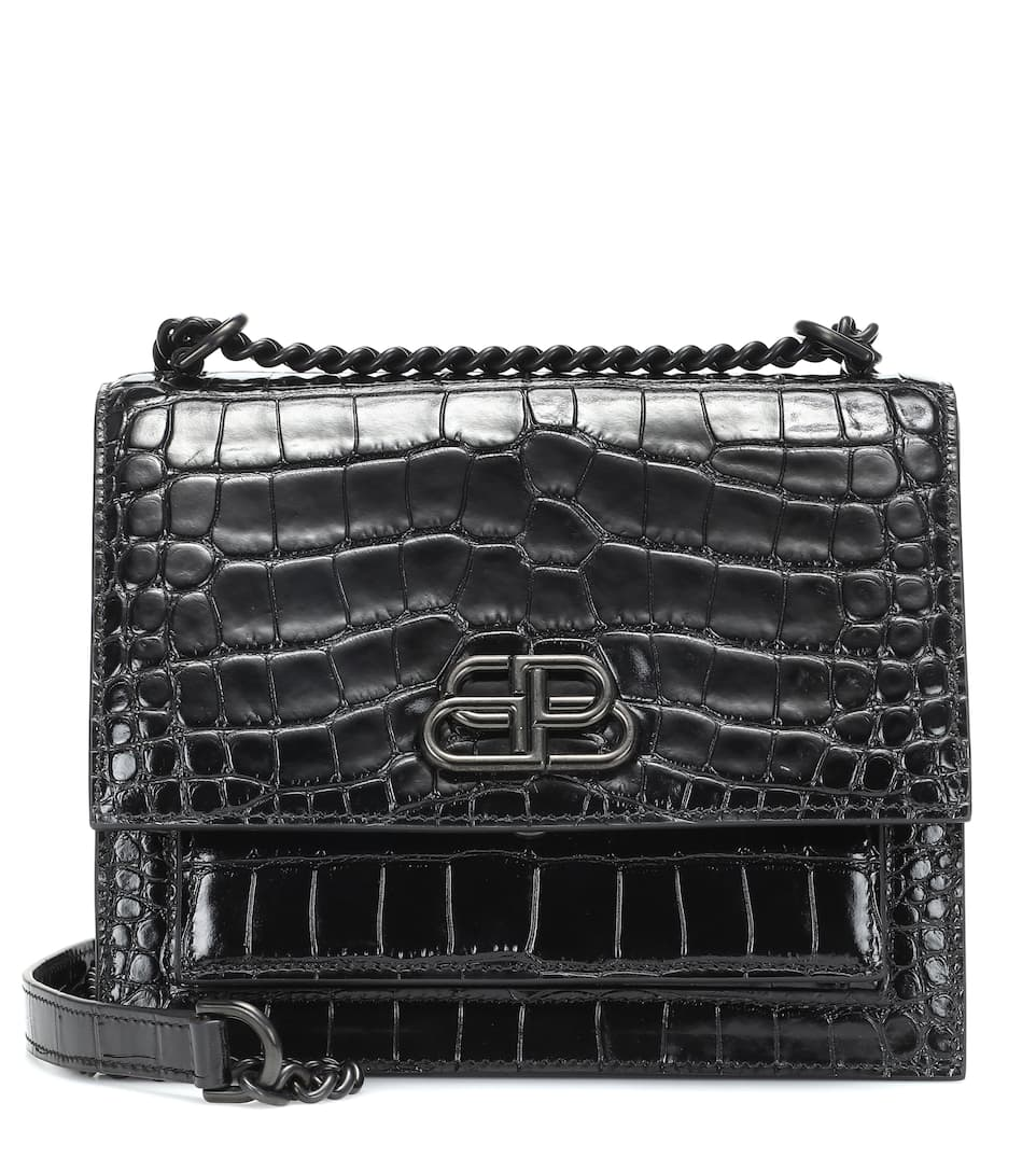 Sharp S Leather Shoulder Bag by Balenciaga