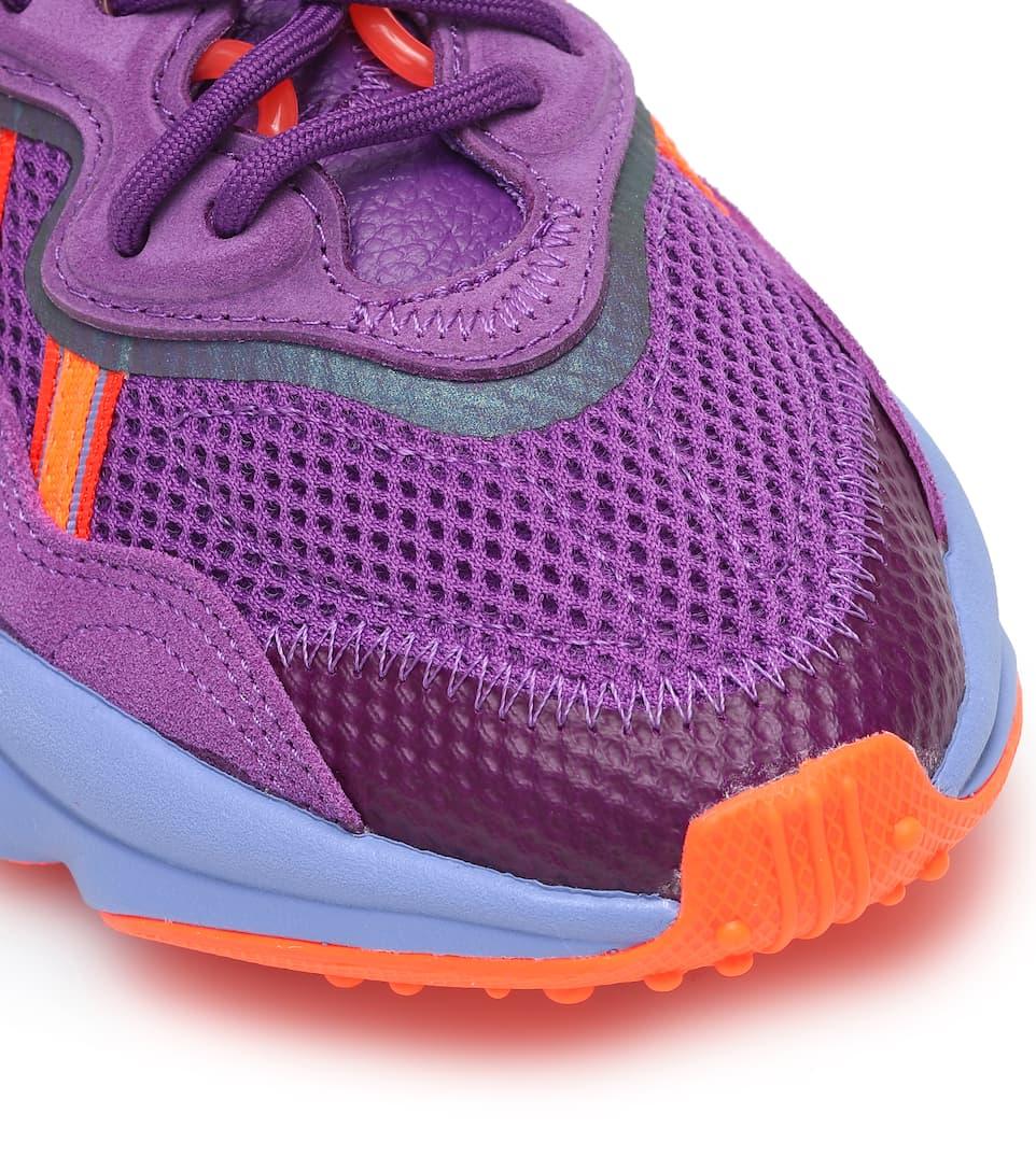 Sneakers Ozweego In Mesh E Pelle - Adidas Originals