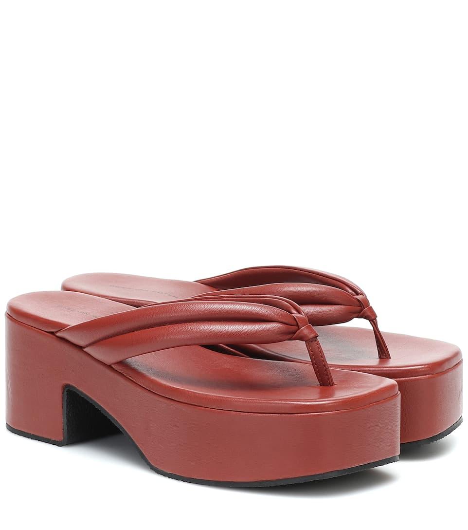 Leather Platform Sandals | Dries Van