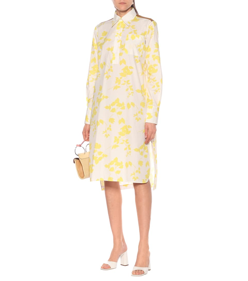Plan C - Floral cotton-blend shirt dress