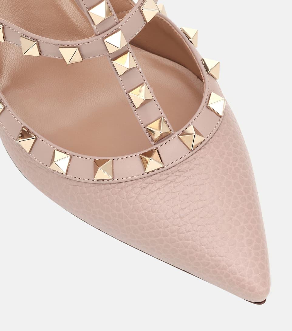 valentino rockstud heels pink