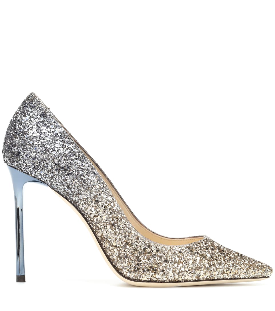 09a98677e7f5 ... Romy 100 glitter pumps. Exclusive to. Mytheresa. Jimmy Choo