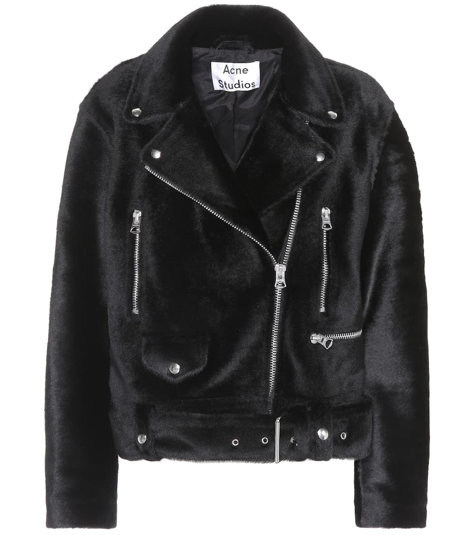 Giacca Biker Merlyn In Shearling by Acne Studios