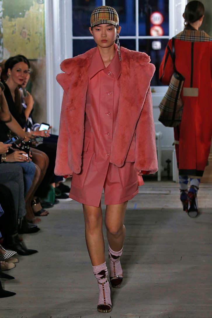 Burberry Jacke aus Faux Fur