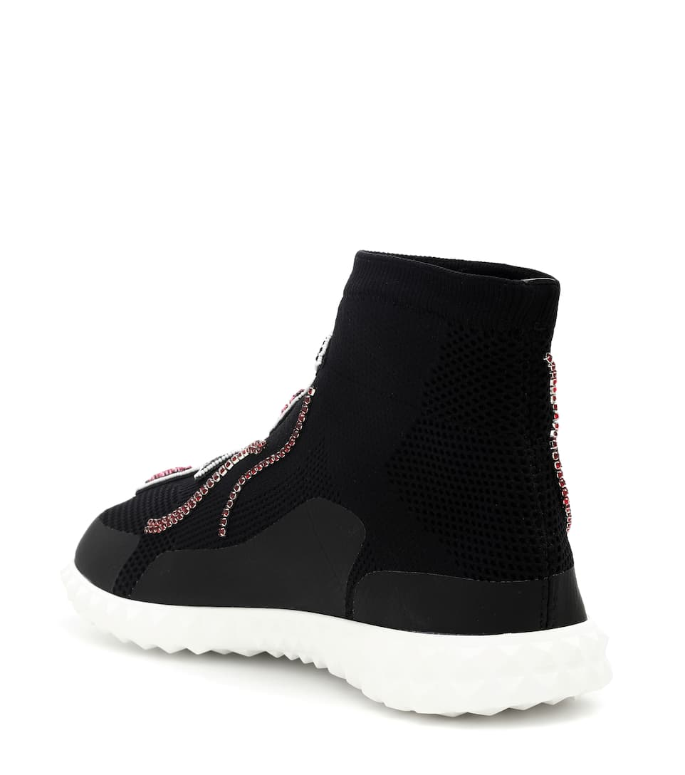 Valentino Studded High-top Sneakers-